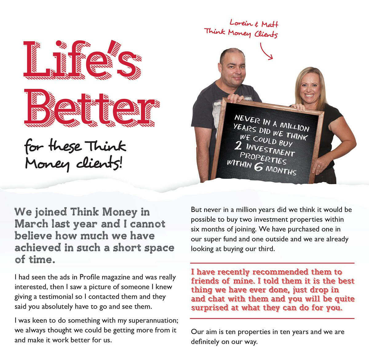 Profile Magazine Online LifesBetter IF YOU THINK YOU CAN'T CREATE WEALTH FROM EQUITY... THINK AGAIN