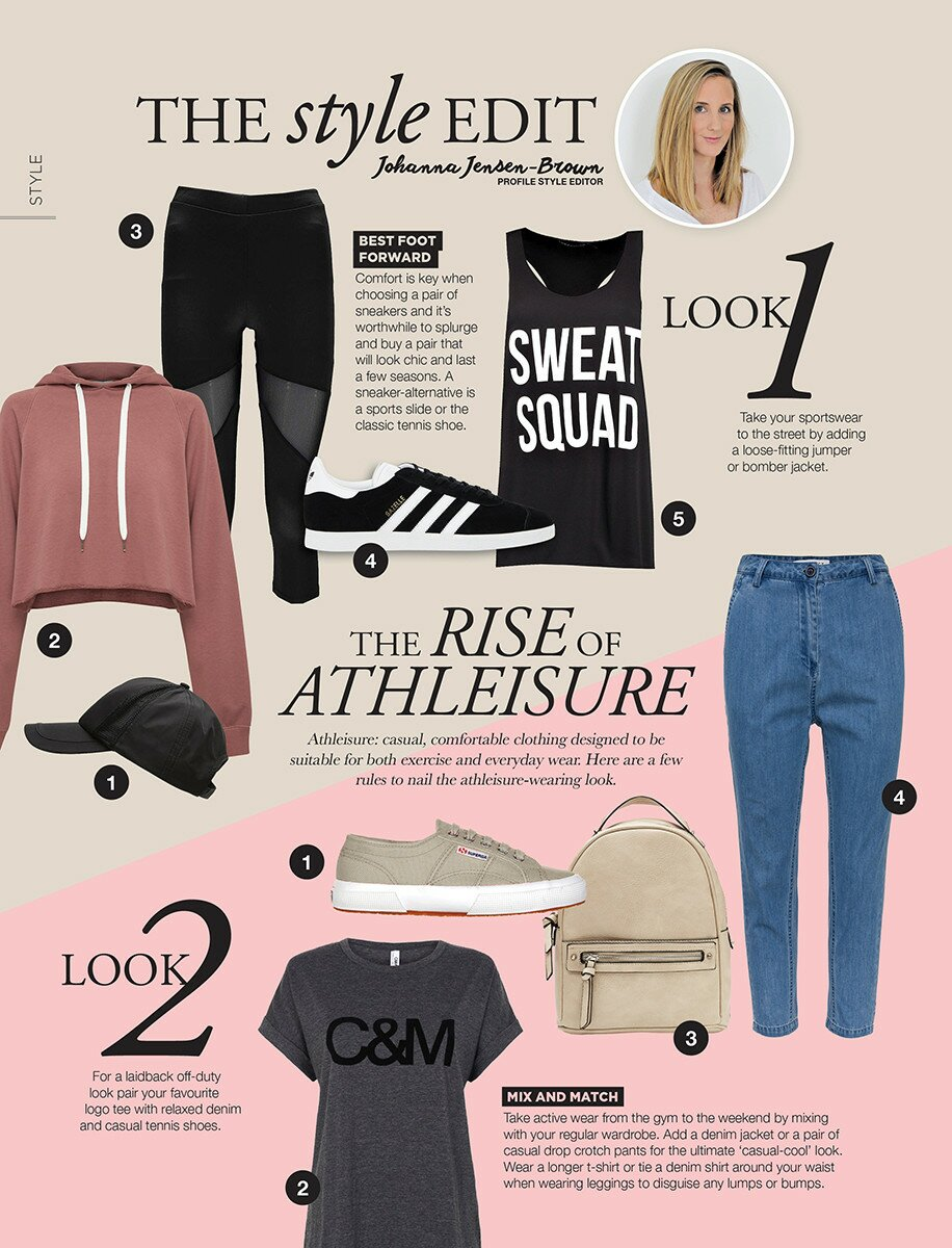 Profile Magazine Online Style-Edit-08_17 THE STYLE EDIT - THE RISE OF ATHLEISURE