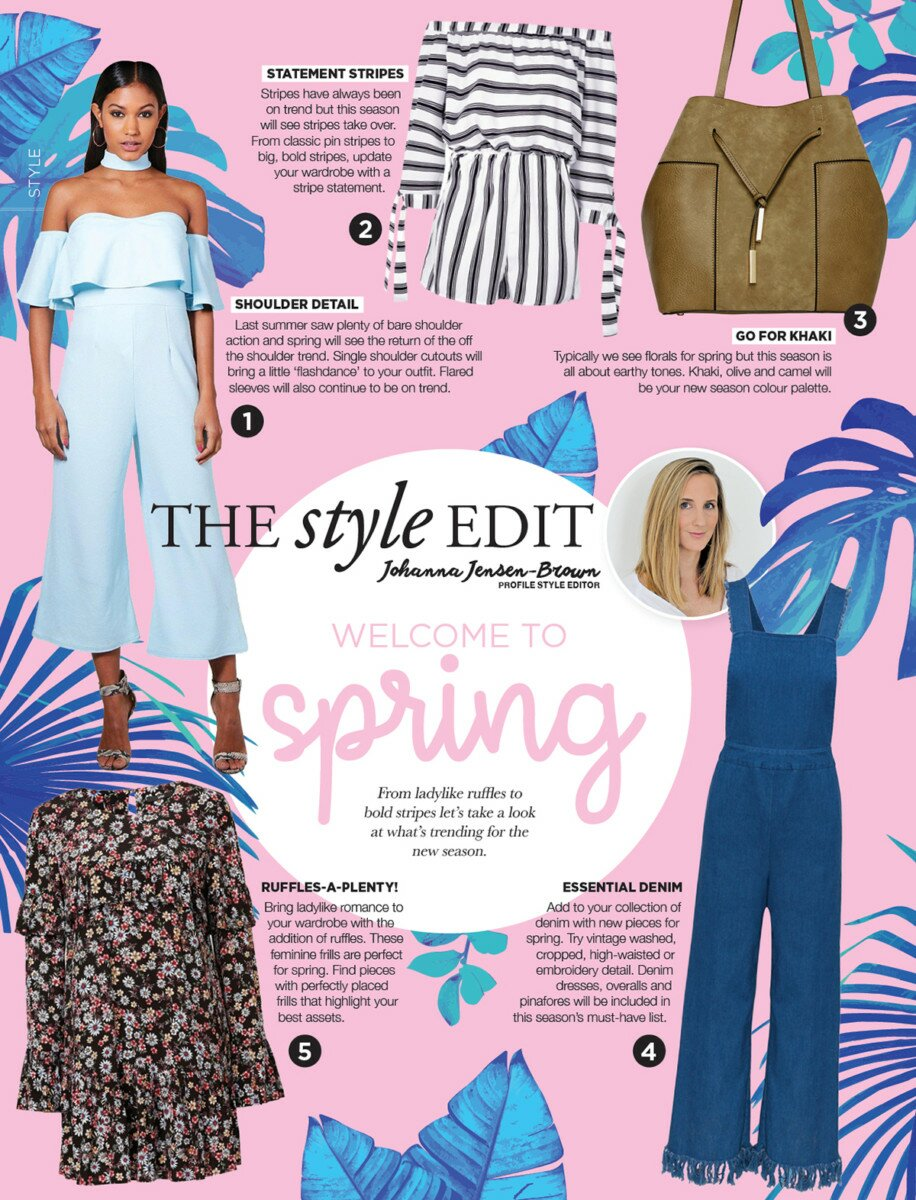 Profile Magazine Online Style-Edit-09_17 The style edit - Welcome to spring