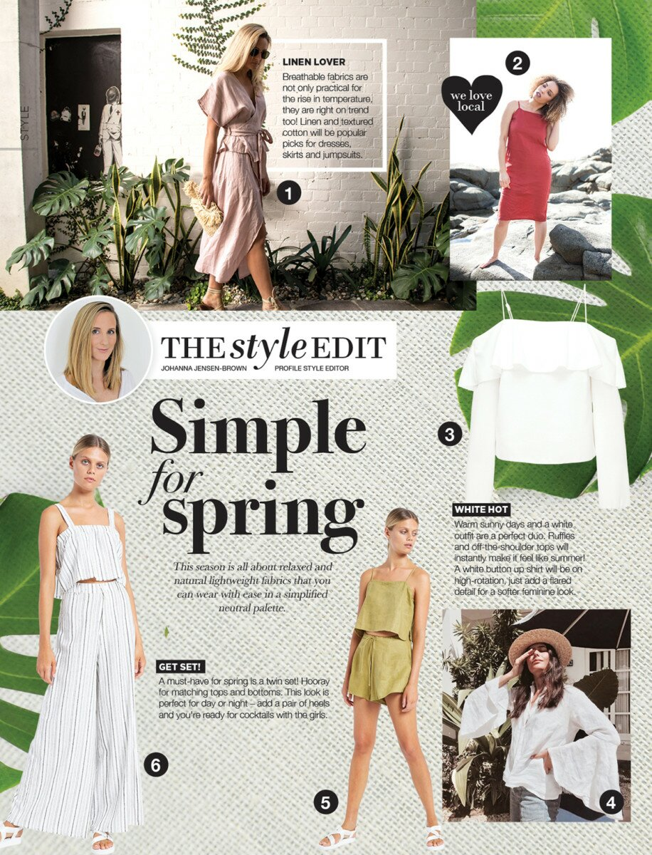 Profile Magazine Online StyleEdit2 The Style Edit - Simple for spring