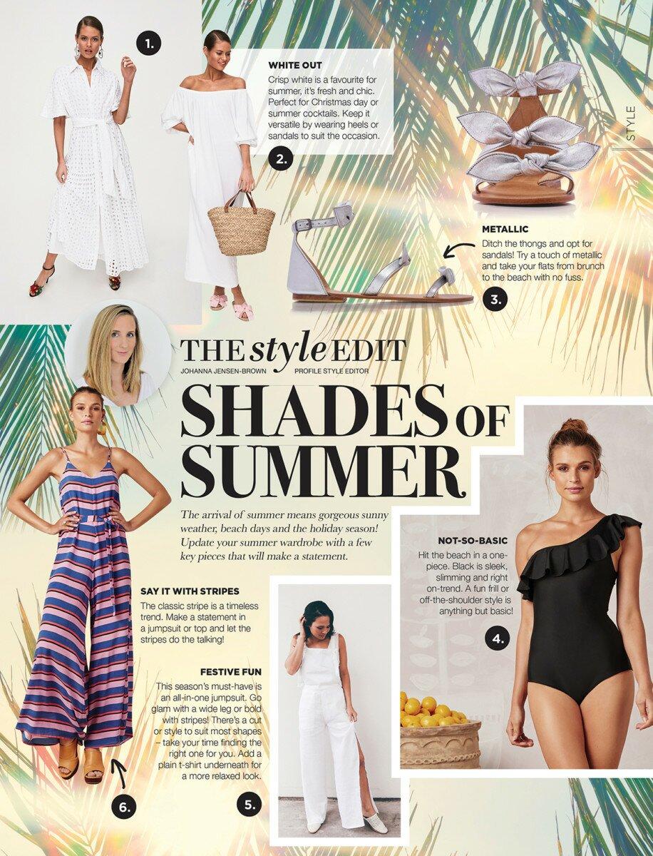 Profile Magazine Online StyleEdit3 The style edit - SHADES OF SUMMER