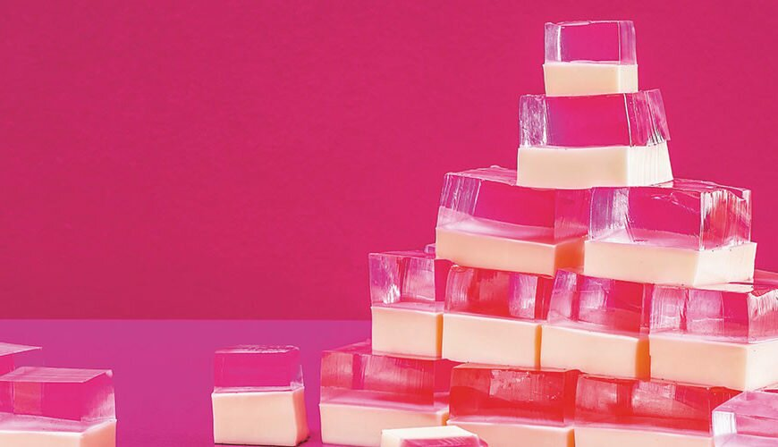 Rose and cream jellies