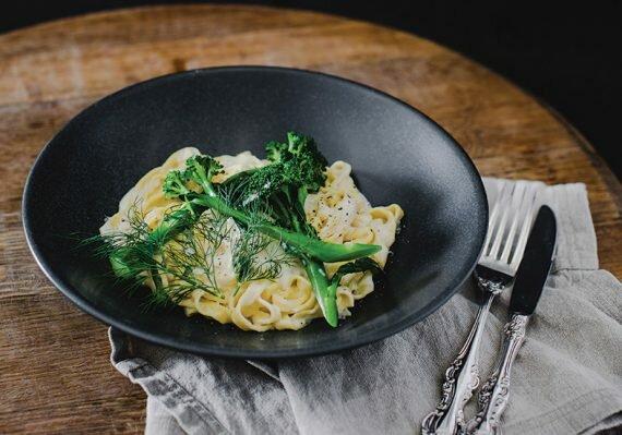 Honey toasted macadamia nuts and crispy broccoli salad