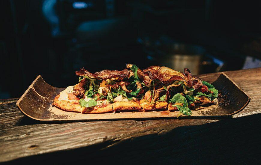 grilled lamb pizza