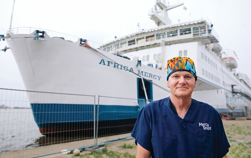 Everyday hero Ivan Whitehead on board the Mercy Ship