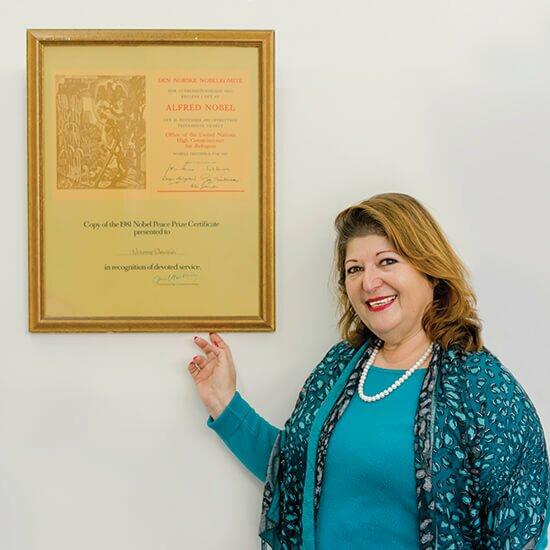 Vivianne Dewalibi nobel peace prize winner