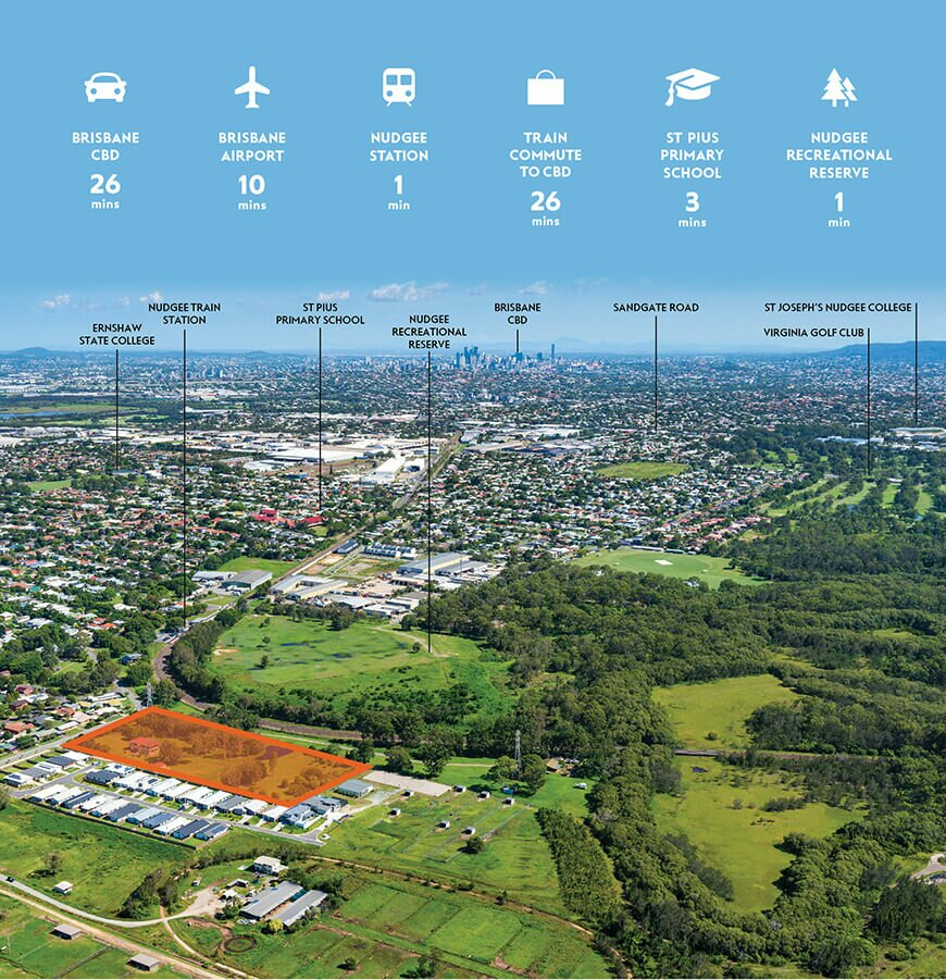 Nudgee Square Map